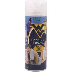West Virginia Mountaineers Cooling Towel - White