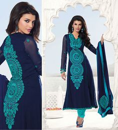 I like this color combo Muslim Fashion, India Fashion, Asian Fashion, Indian Attire, Indian Wear, Pakistani Outfits, Indian Outfits, Desi Clothes, Indian Clothes