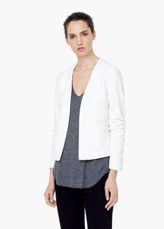 Textured jacket - Jackets for Women | MANGO