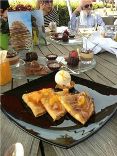 Crepe Suzette at Indigo, Le Gray- fantastic rooftop restaurant with breathtaking views of downtown Beirut #dinealfresco