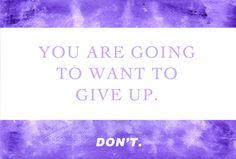 Motivational Quote: Don't Quit - Fit for a Bride