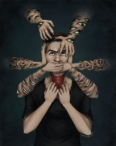That is fucking awesome. It also fucking terrifying. Jacksepticeye Fan Art, Markiplier, Pewdiepie, Epic Art, Amazing Art, Awesome, Darkiplier And Antisepticeye, Cryaotic, Jack And Mark