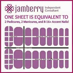 Jamberry Sheet = 2 Pedicure and 2 Manicure + Accent Nails! To shop, visit badonaldson.jamberrynails.net