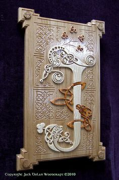Book of Kells in Wood wall hanging by jackdolanwoodcraft on Etsy