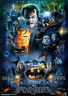 Still one of my Favorite Batman movies! Tim Burton Batman, Im Batman, Superman, Batman 1966, Best Movie Posters, Cinema Posters, Movie Poster Art, Batman Artwork, Batman Wallpaper