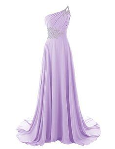 Diyouth One Shoulder Beaded Long Mermaid Bridesmaid Dresses with Train Lavender Size 2 Diyouth http://www.amazon.com/dp/B00MM2RQDI/ref=cm_sw_r_pi_dp_FO9awb0912ZC8