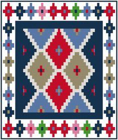 Navajo Mini Rug 4 Cross Stitch