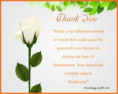 33+ best funeral thank you cards | sympathy thank you cards.