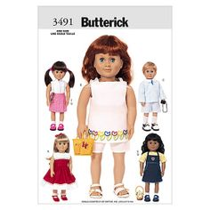 18 (46cm) Doll Clothes-One Size Only Pattern