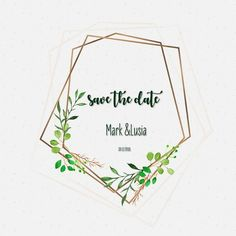Elegant frame wedding invitation with watercolor flowers PNG and Vector
