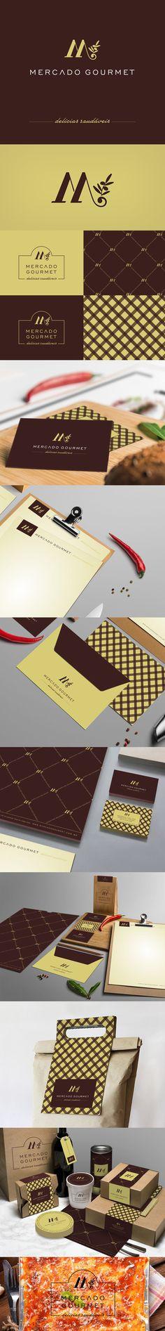Posicionamento da marca Mercado Gourmet - loja de alimentos naturais / conveniência. Projeto: Branding (marca/Identidade corporativa/MKT/ Sinalização) designer: Priscila Áquila
