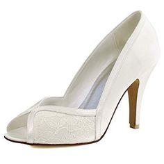 86b5473a9 Lace pump for women. High Heel PumpsLace PumpsPeep Toe PumpsPumps HeelsStiletto  PumpsBridal Wedding ShoesBridal LaceSatinElegant