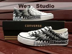 Flying wings Converse Custom Hand Painted Shoes,Converse Shoes Hand Painted Shoes,Converse Shoes,Gifts on Etsy, $69.00