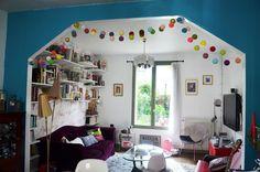 De carton et détoiles: De la couleur dans notre salon