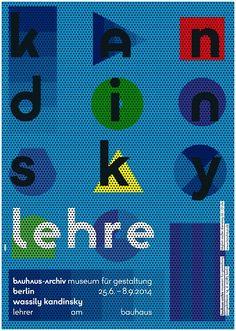 """Ausstellungsplakat """"Wassily Kandinsky - Lehrer am Bauhaus"""", Gestaltung: L2M3"""