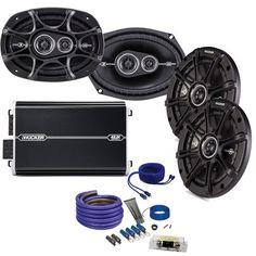 "Kicker DS 6x9 and 6.5"""" Speaker package with Kicker DXA 250 watt 4-channel amp, and amplifier wiring kit"