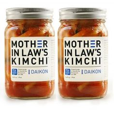 Daikon Radish Kimchi:  Not the typical cabbage-based kimchi.  It's crunchy, tangy, and spicy.  Tastes great with eggs, in a sandwich, or by itself.  This is a healthy fermented probiotic containing food that is good for your digestive tract.