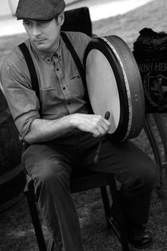 The bodhran has been declared to be the native drum of the celts. My brother can rock this!