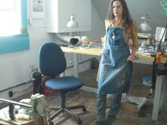 in my studio at the Penland School of Crafts