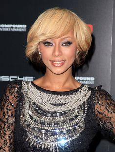 Are you thinking of switching up your hair color? Here are some inspiration pictures of light skin girls with blonde, red and black hair. Blonde Hair: Keri Hilson(Getty Images)more pics Short Haircuts With Bangs, Short Haircut Styles, Short Bob Hairstyles, Hairstyles With Bangs, Short Hair Cuts, Black Hairstyle, Afro Hairstyles, Summer Hairstyles, Hair Lights