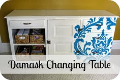 Damask Inspired Nursery Changing Table
