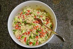 Polskie South Beach: Kuskus z warzywami Work Meals, Guacamole, Risotto, Grilling, Rice, Healthy Recipes, Ethnic Recipes, South Beach, Diet
