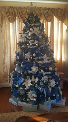 510 Best Blue Christmas Decor Images In 2019 Christmas