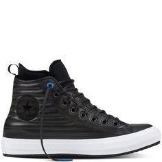 8e745bf95c6 Converse Chuck Taylor Allstar Waterproof Boot Black Blue Jay White  157492C-001 Matériau Partie Supérieure