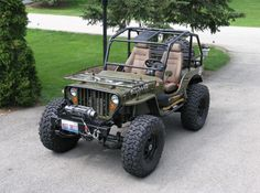 Cool Willys Jeep. My boyfriend would love!