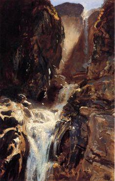 urgetocreate:  John Singer Sargent - A Waterfall - 1910