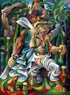 Sugar-cane Cutters, by Mario Carréno, 1943.