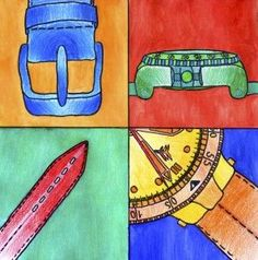 Objects in detail (Arte a Scuola) Visual Art Lessons, Art Education Lessons, Art Lessons Elementary, Middle School Art Projects, Art School, Art Plastique Halloween, 7th Grade Art, Atelier D Art, Jr Art