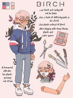 BIRCH - Reference sheet commission by mupaa on DeviantArt Cute Art Styles, Cartoon Art Styles, Design Reference, Art Reference, Character Reference Sheet, Meet The Artist, Character Design Inspiration, Pretty Art, Aesthetic Art