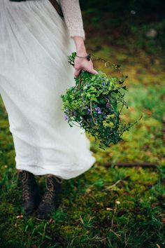 Wild Natural Bouquet Bride Flowers Bouquet Foliage Lord of the Rings Woodland Bridal Wedding Editorial http://www.lucyturnbull.co.uk/
