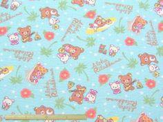 夏のパジャマ、ゆかた、じんべい等の制作に!  肌ざわりが良くて涼しい 「リラックマ」コットンリップルプリント 108cm巾 綿100% - そーいんぐ・すていしょん コミニカ
