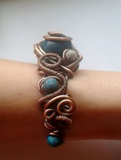 Copper braceletHandmade copper wire bracelet with by Tangledworld #copper jewelry #copper wire jewelry #Copper bracelet #Handmade bracelet