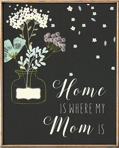 Mother's Day Print Home Is Where Mom Is Print Gifts For