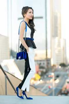 City View :: Panel peplum top & Sapphire details  : Wendy's Lookbook