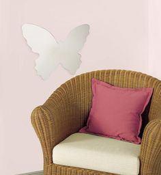 Butterfly Peel & Stick Mirror (Large) Wall Decal at AllPosters.com