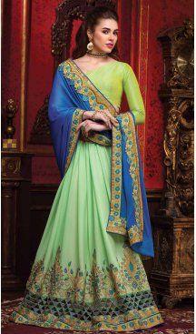 Aloe Vera Green Color Crepe Silk Embroidered Indian Traditional Sarees   FH585386227 Follow us @heenastyle #handwoven #traditionalsaree #kanchipuramsaree #pattusaree #purezari #southindianbride #southindianwedding #templesarees #beautifulsaree #weddingsaree #saree #sareelove #festivesaree #onlinesareeshopping #embroiderysaree #muslinsaree  #paithanisaree #exclusivecollection #womenwear #indianfashion #enthic #onlinesaree #heenastyle
