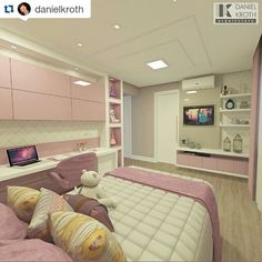 #Repost @danielkroth with @repostapp ・・・ Projeto Dormitório da Menina #DanielKrothArquitetura #DKarquitetura #projeto #projetodeinteriores…