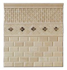 master bath? Crema Marfil Marble 2 X 4 Polished & Beveled Brick Mosaic Tile - 6 X 6 Sample - Subway Tile - Amazon.com