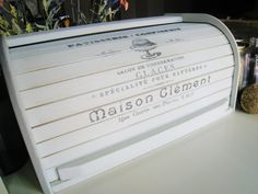 Shabby Chic French Design Roll Top Bread Box by SweetPeaPickers, $55.00