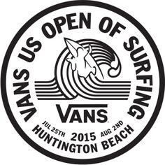 Vans US Open of Surfing Huntington Beach CA! Surf Logo, Beach Logo, Logo Circular, Van Signs, Surf Stickers, Pop Stickers, Facebook E Instagram, Instagram Accounts, Vans Logo