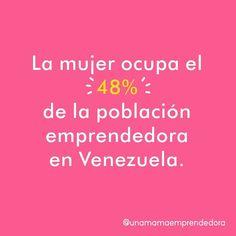 Según el estudio de GEM Venezuela 2009-2010 existen en el país 29 millones de emprendedores lo que equivale al 187% de la población de 18 a 64 años. De este grupo 48% son mujeres . Crees que esta cifra a cambiado en los últimos años?  #UnaMamáEmprendedora #SoyUME