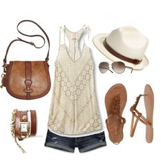 """Summertime"" by tabbylum on Polyvore"