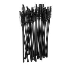 Disposable, hygenic, high-quality, spiral fibre brushes for applying mascara and Brow Set. Can be used with any mascara formula. 20 wands.