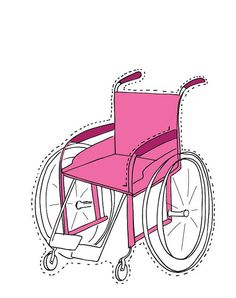 Paper doll for kids in a wheel chair 1 paper doll by RealWorldKids