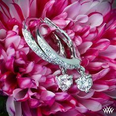 "White Gold ""Martini Drop"" Diamond Earrings"