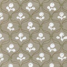 wallpaper floral and trellis neutrals